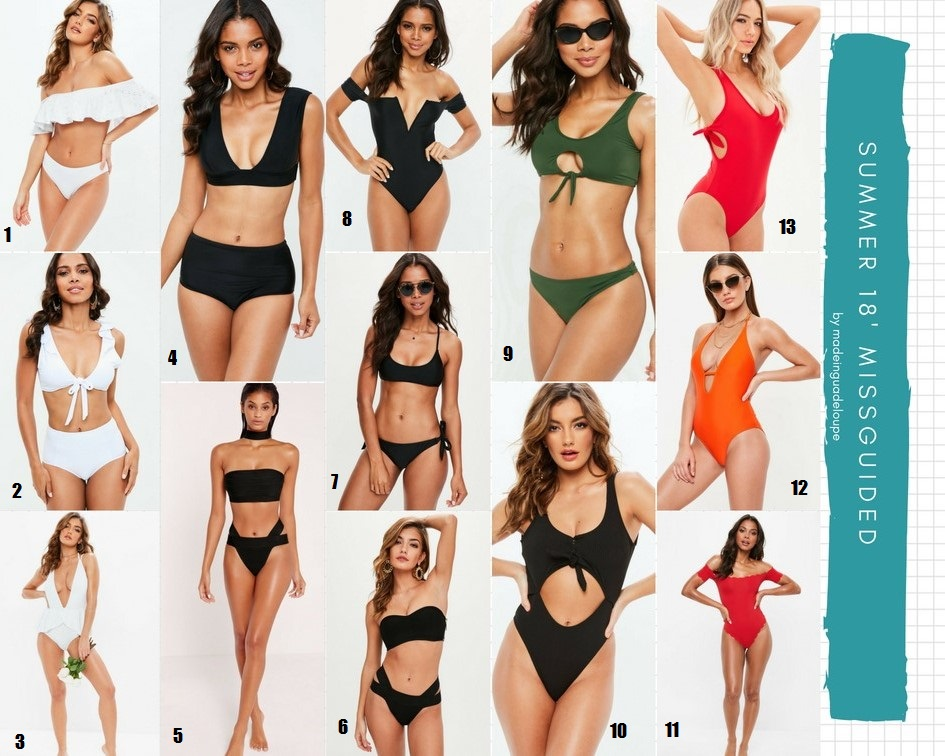 maillots de bain marque Missguided