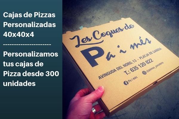 cajas de pizzas 40x40x4