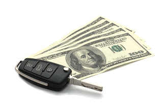 Car keys with money