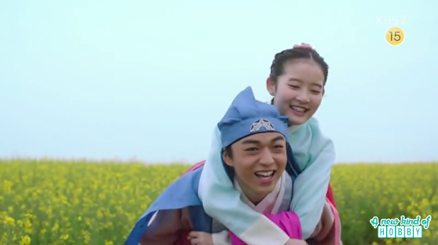 Prince yeok piggy back ride to chae kyung  - Seven Day Queen: Episode 3 korean Drama