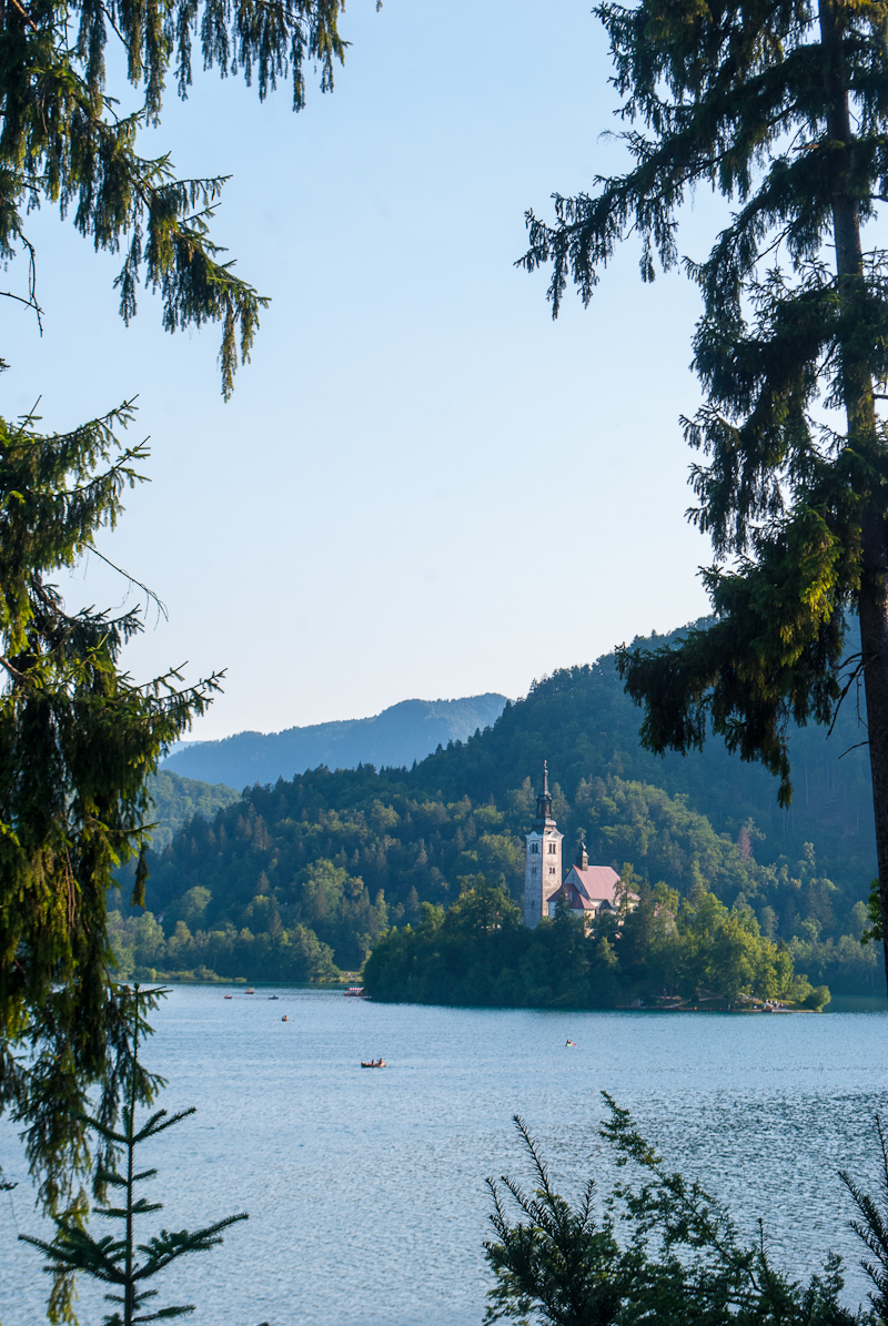 Lake bled image in the summer