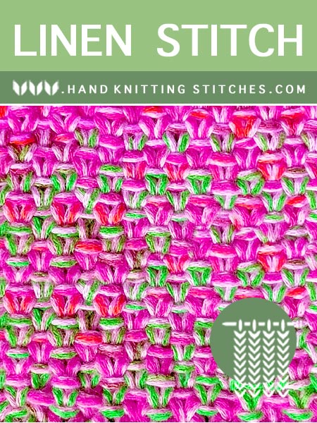 Hand #KnittingStitches - Linen Slip Stitch Pattern