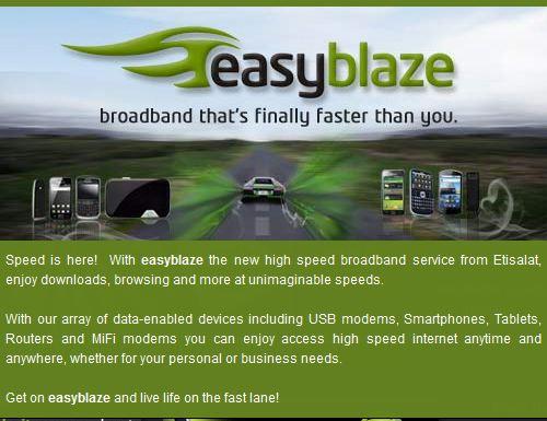 Etisalat EasyBlaze Plans and codes for Subscriptions – OgbongeBlog