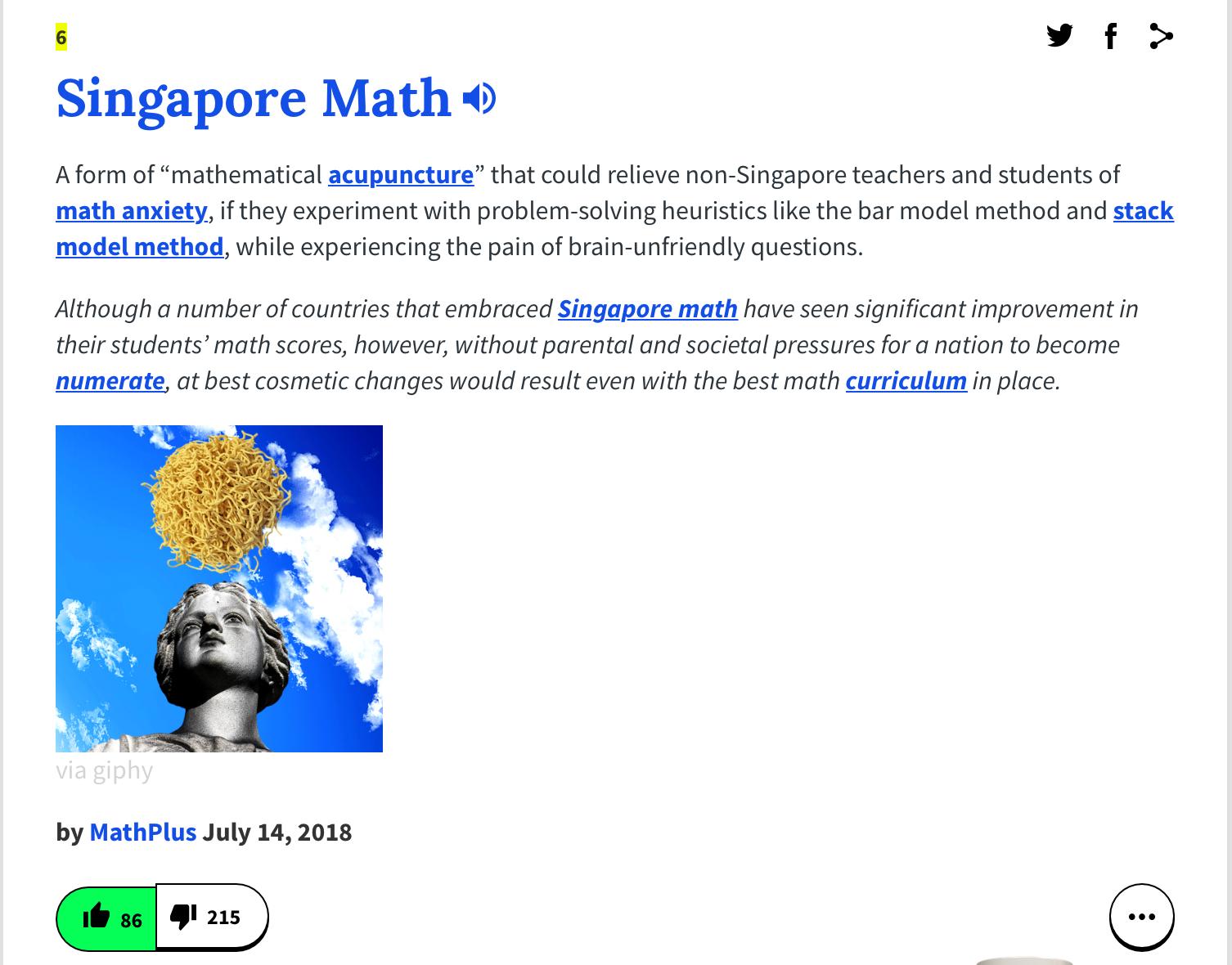 Singapore Math: 2019