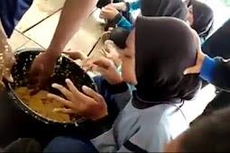 Parah... Paskibra dipaksa Makan Layaknya Hewan