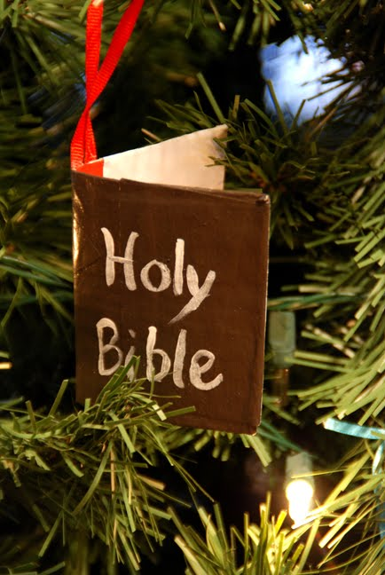 Christmas Ornament Bible Verses Craft