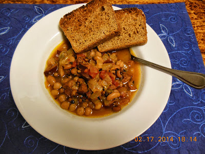 A bean and sausage stew the whole family will enjoy.