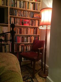 bookshelves, chair, old chair, life on pig row, pig row