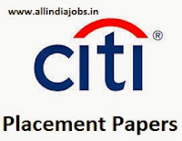 Citi Placement Papers
