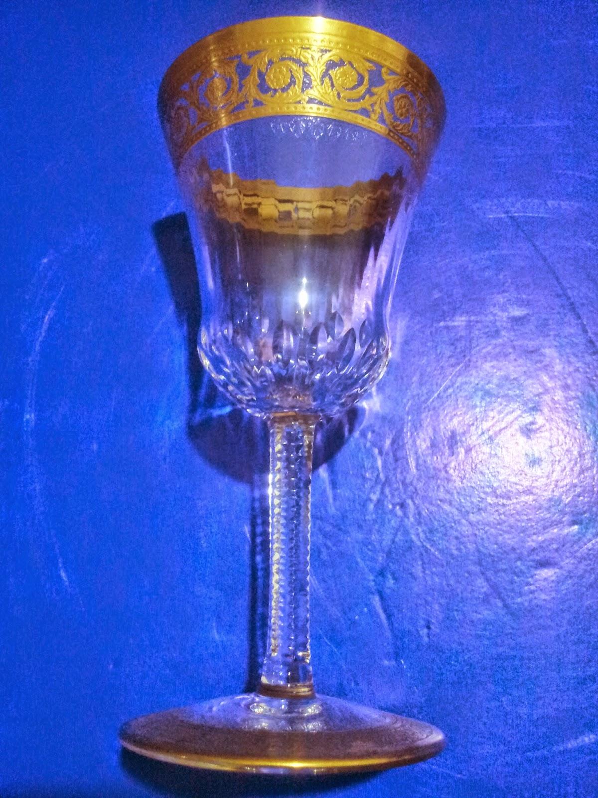 Silvium Antiques Vintage Saint Louis Crystal France Gold