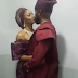 Photo of Banky W and Adesua Etomi kissing at their Introduction