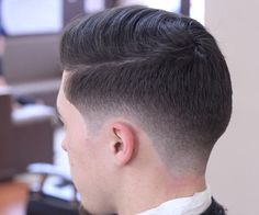 Low Fade Taper Comb Over Style