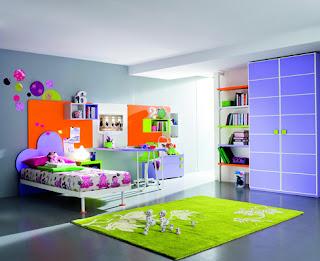 Habitación mucho color niña