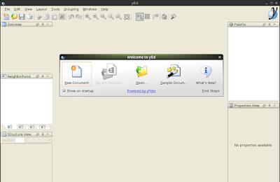 tampilan yEd graph editor