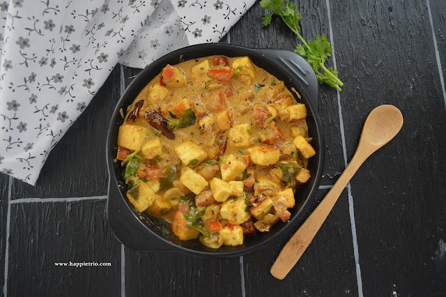 Dahi Paneer Gravy | Paneer Yogurt Curry