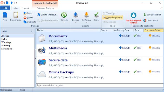 FBackup 6.2 - Πάρτε εντελώς δωρεάν αντίγραφα ασφαλείας