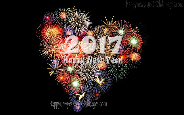 Happy New Year 2017 Fireworks Love Photos Download