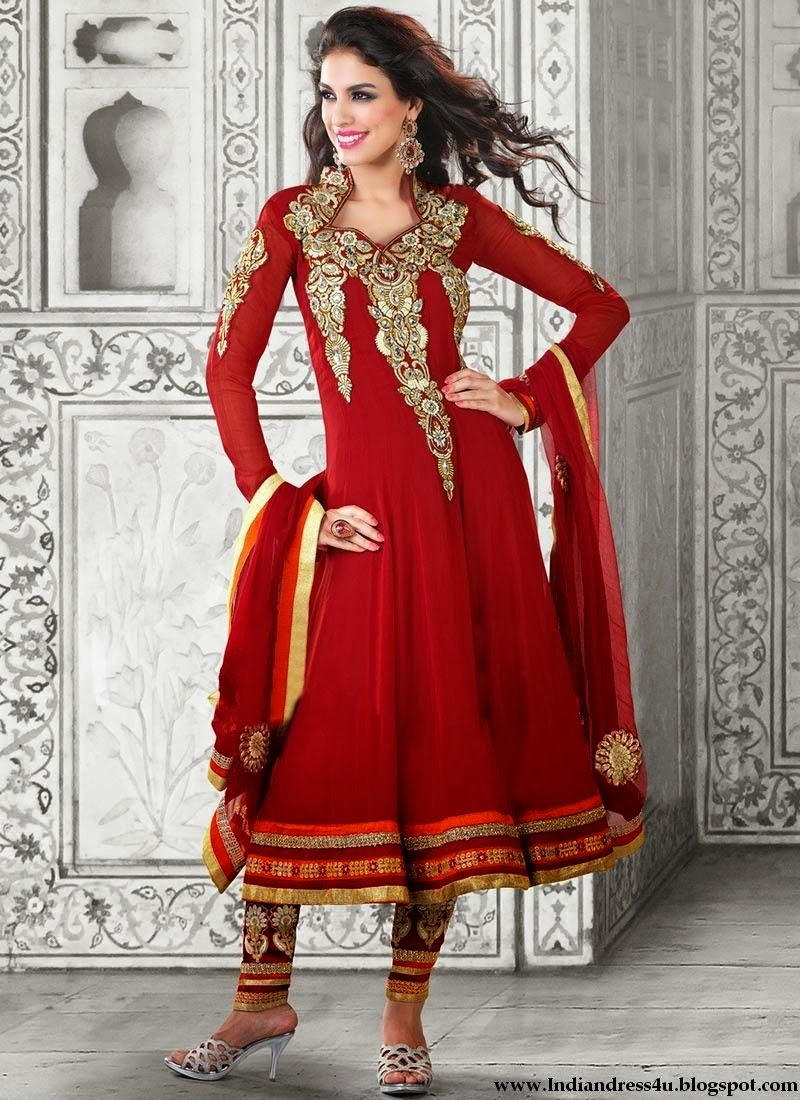 Long Designer Wedding Anarkali Dresses 2014 - Beautiful ...
