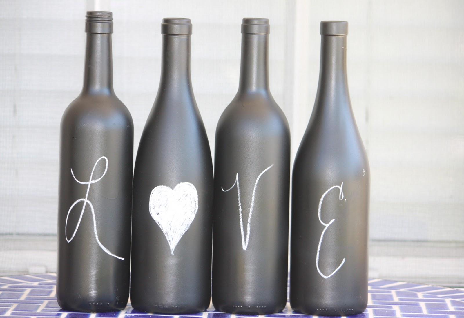 Desperate Craftwives: Chalkboard Wine Bottles