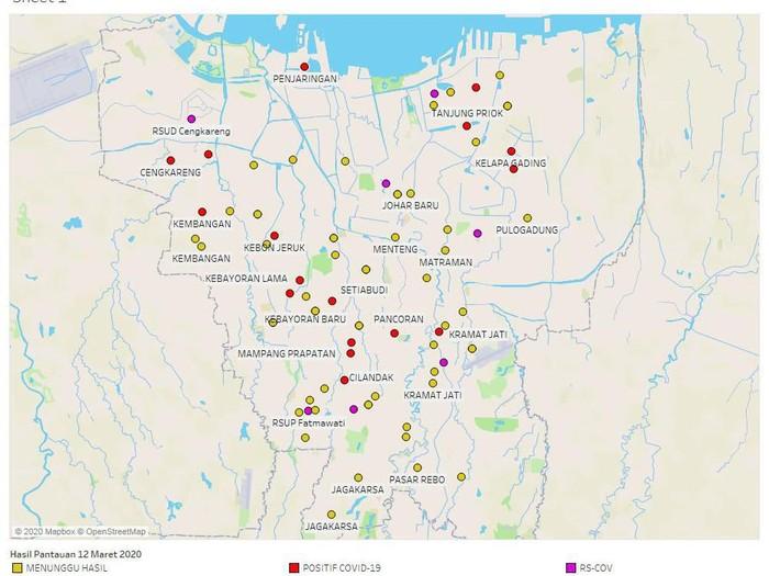 Transparansi! Anies Ungkap Peta Sebaran Corona di Jakarta ...