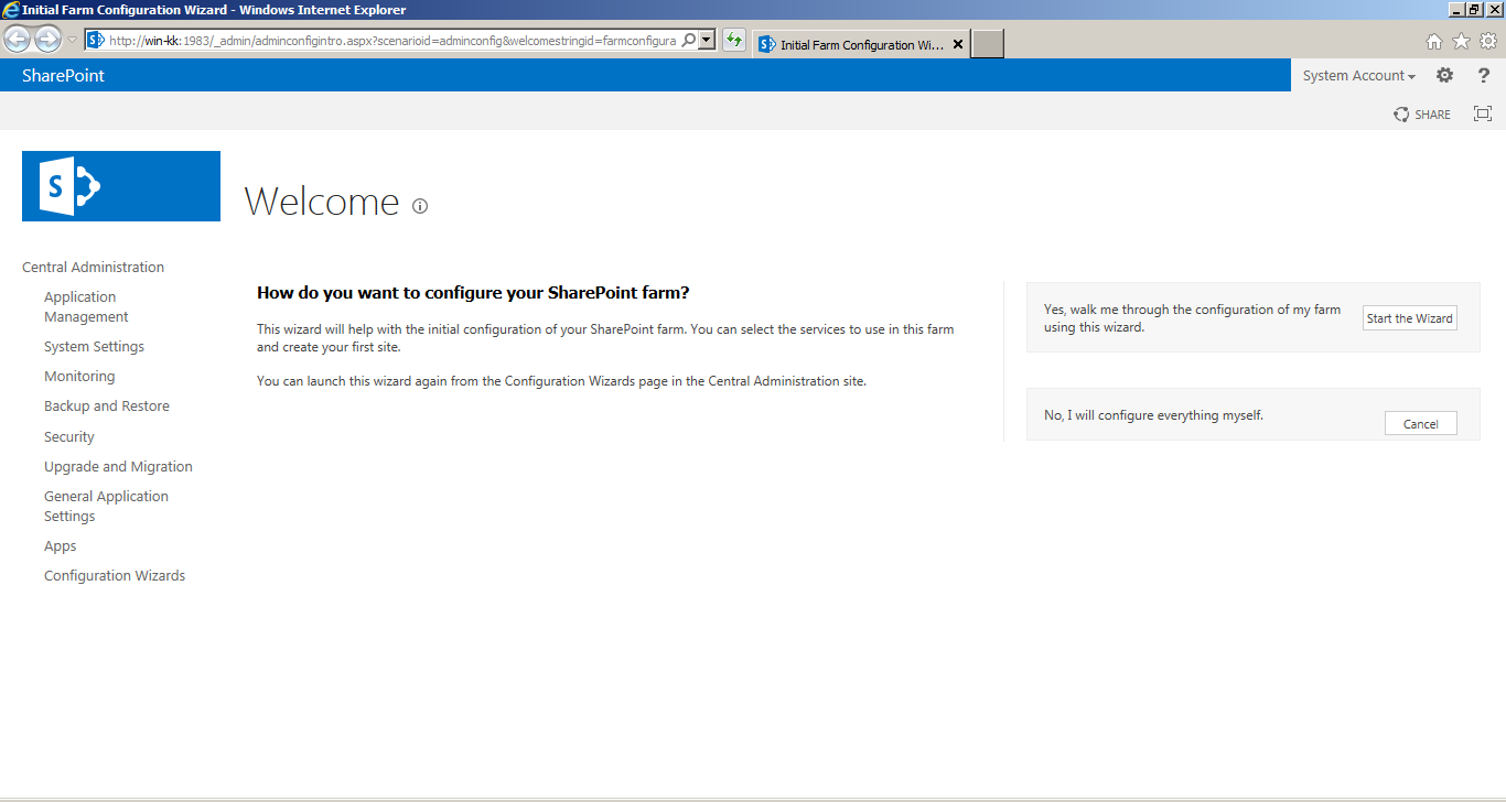 SharePoint 2013 installation step by step