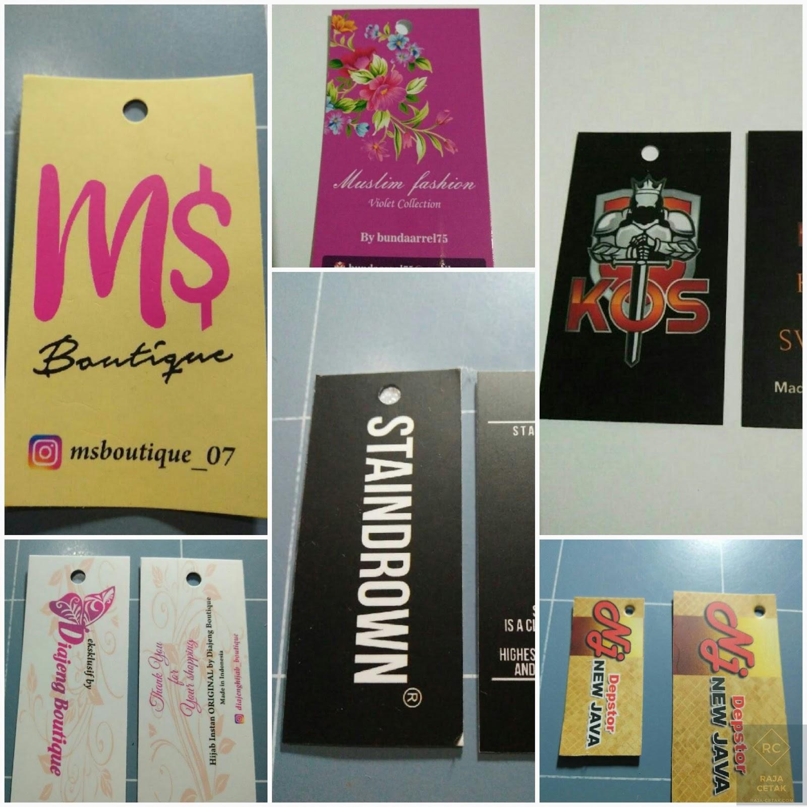 Buat Hang Tag / Price Tag atau Label Baju Kertas (Ivori 12) Murah