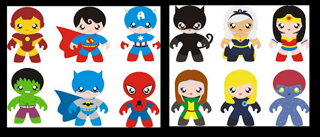 Lovely Baby Superheroes Clipart.