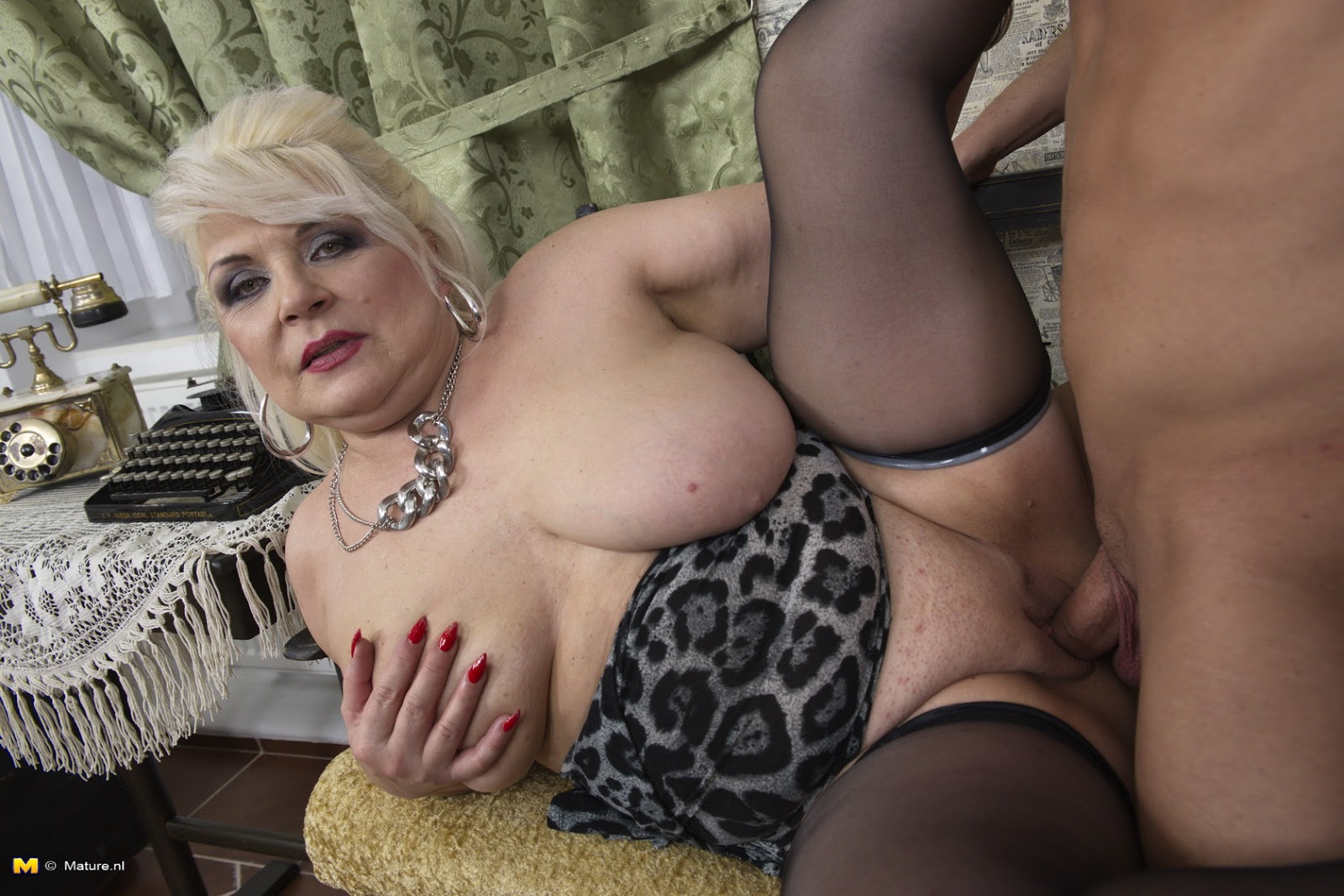 52 year old gilf is back and loves to fuck her dildo - 2 2