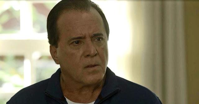 Olavo diz que precisa tomar alguma atitude para encontrar a filha (Imagem: Reprodução/TV Globo)