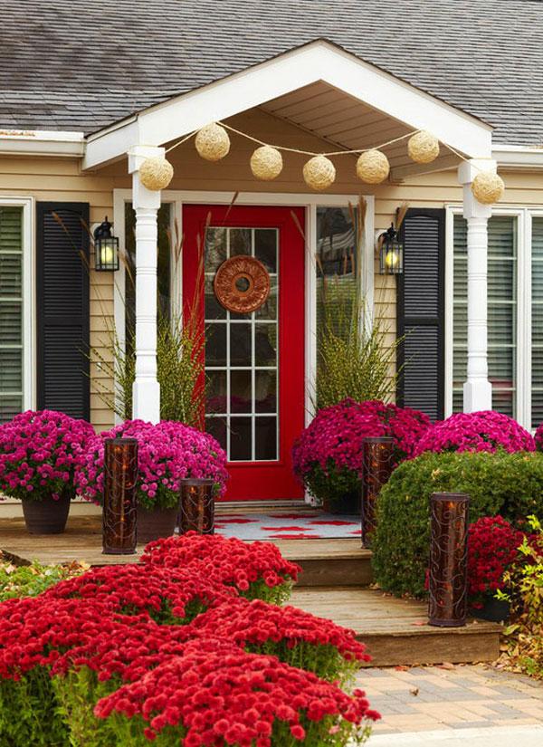 Hogares frescos 30 dise os inspiradores para la entrada - Arreglo de jardines ...