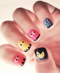 nail art game pacman design