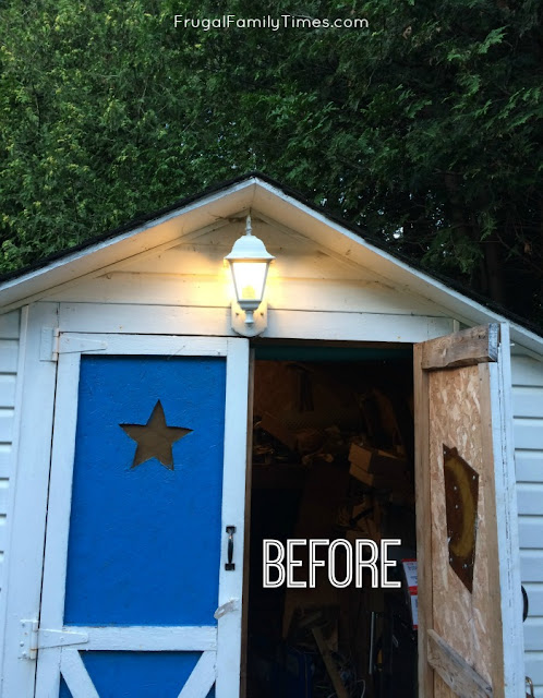 shed makeover before