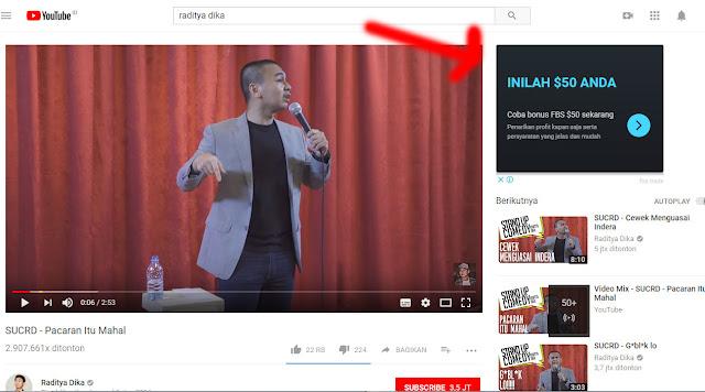 pasang iklan adsense youtube