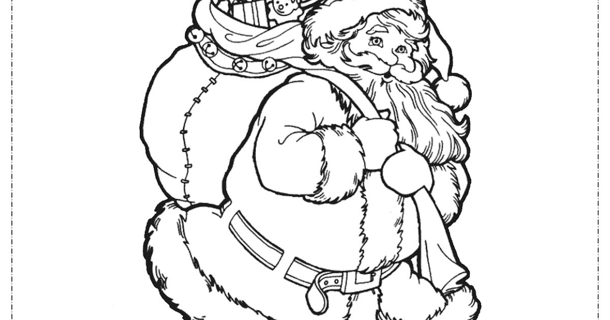 Atividades Escolares: Papai Noel Para Colorir, Pintar E