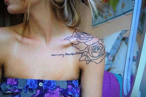 Flower Shoulder Tattoo: Women Fashion And Lifestyles
