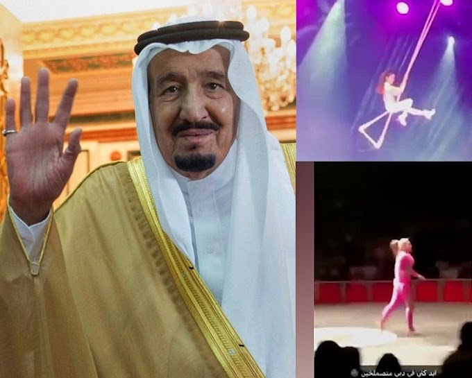 Saudi king sacks country's head of entertainment after female performers in body hugging costumes were featured at an event (Video)
