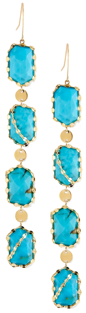 Lana Bliss Dream Turquoise Drop Earrings