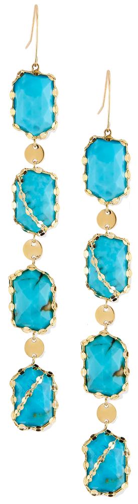 Lana Bliss Dream Turquoise Drop Earrings