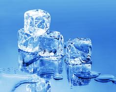 transparent ice cubes