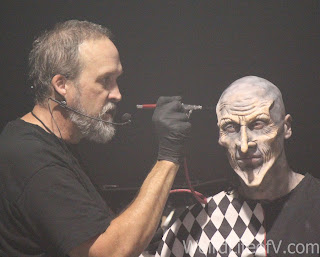 A demonstration of applying full prosthetic makeup in under an hour