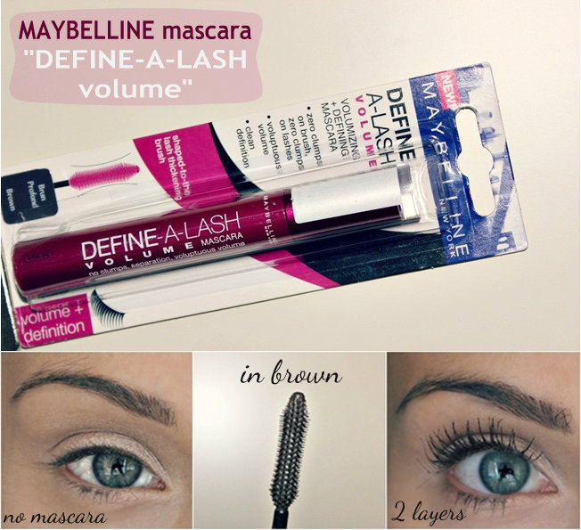 Maybelline DEFINE-A-LASH volume mascara in brown color