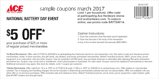 Ace Hardware coupons march