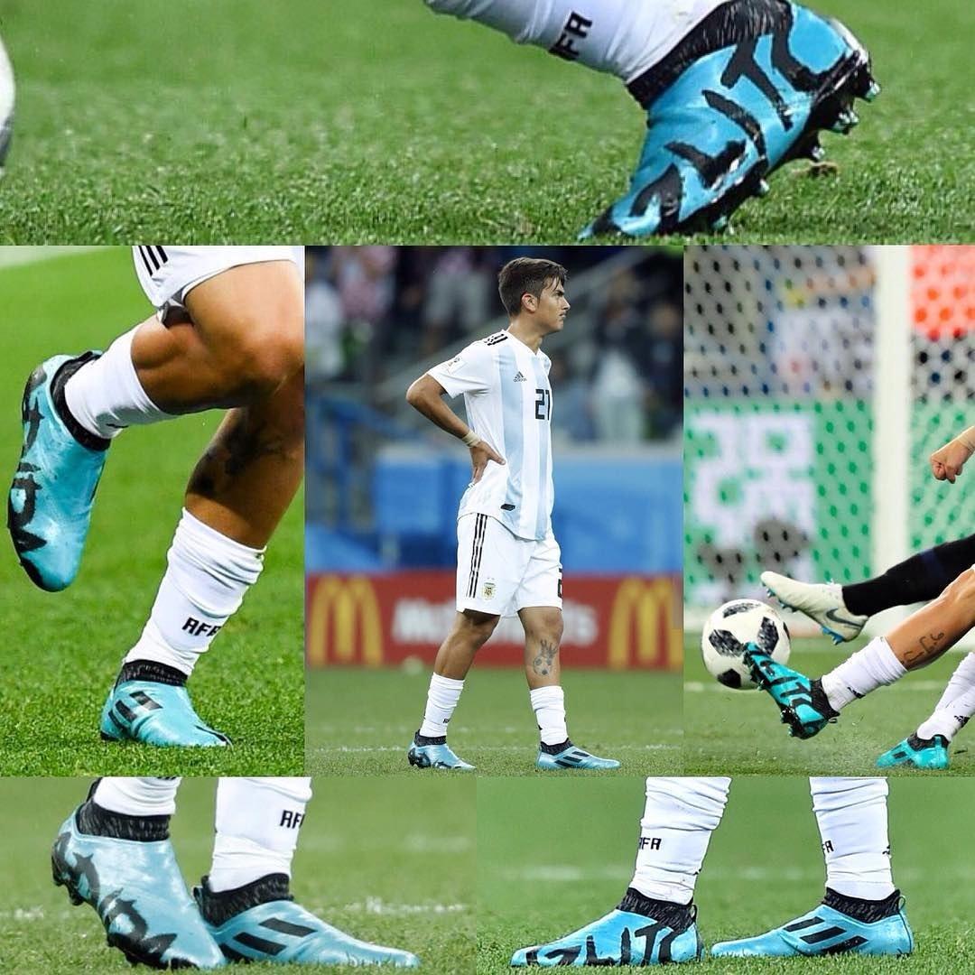 Dybala Debuts Unreleased Blue Adidas Glitch Boots - Footy Headlines 242a06d1323