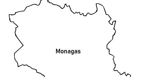 La cartografía: Mapa del Estado Monagas (Venezuela) para colorear