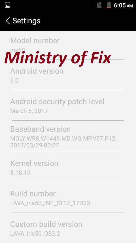 Lava Iris 50 MT6580 6 0 Firmware Flash File - Ministry of Fix