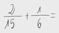 15.   Suma de fracciones