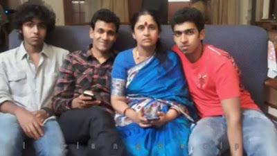 Vinay Rajkumar with his family