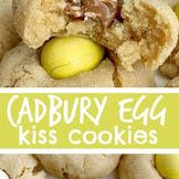 Cadbury Egg Kiss Cookies