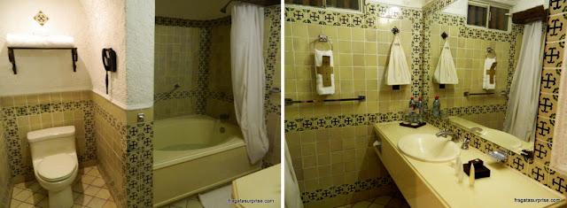 Banheiro do apartamento do Hotel Museu Casa Santo Domingo, Antigua, Guatemala