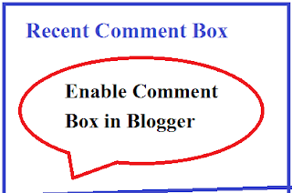 Recent Comments Widget For Blogger
